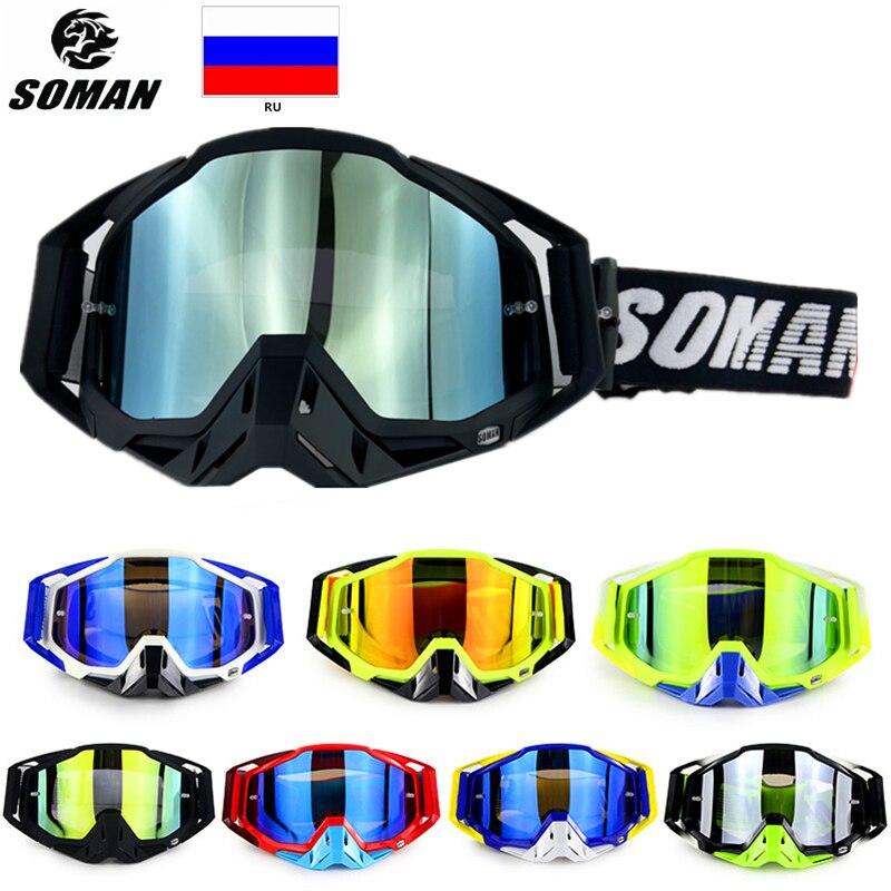 SOMAN Motocross Helmet Goggles Atv Off Road Goggles Dirt Bike Glasses Dustproof Gafas Moto Cross Brillen Motorcycle Glasses SM11